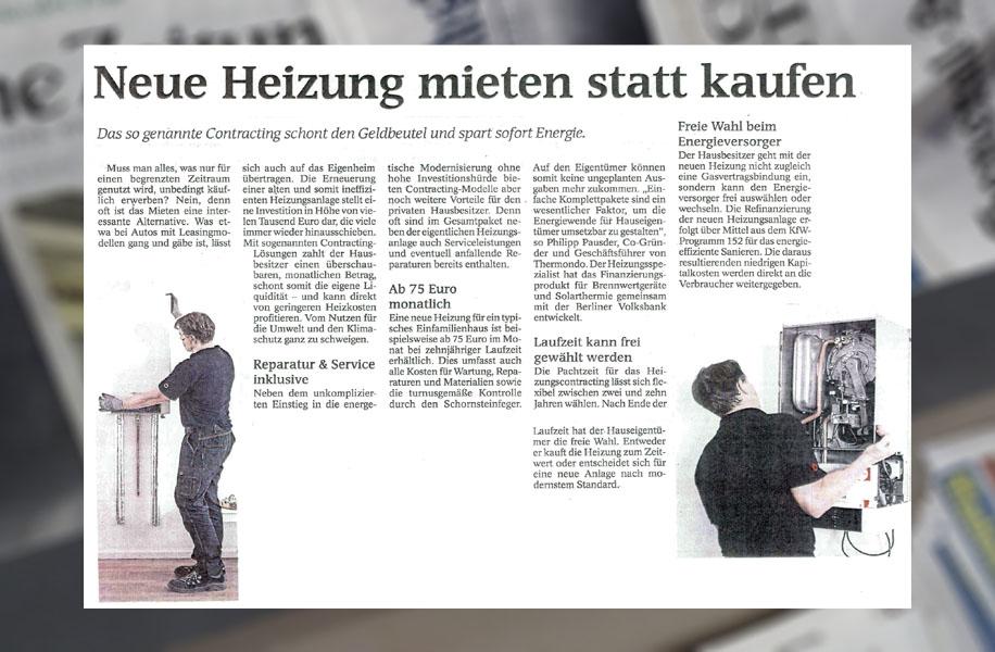 Beispiel Clipping Zeitung